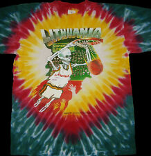 GRATEFUL DEAD Original 1992 Design Lithuania Olympic Basketball Tie Dye T-shirt