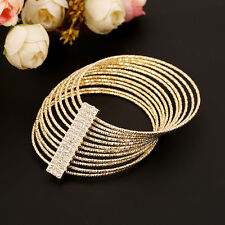 Womens New Wristband Bangle Crystal Cuff Bracelet Bling Hand Chain Bracelet