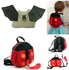 Baby Kid Toddler Walking Safety Harness Backpack Bag Strap Rein Ladybird Bat new