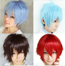Man Boy Costume Cosplay Party Straight Matt Kill Full Short Wigs + Free Wig Cap