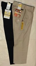 LEE Mens Stain Resist Relaxed Fit Flat Front Pants 30 32 34 36 38 40 42 NWT