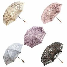 Compact Lace Wedding Parasol Folding Travel Sun Umbrella UV Block