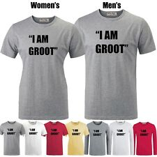 Marvel Guardians Of The Galaxy I AM GROOT Graphic Long Short Sleeves T-shirt Tee