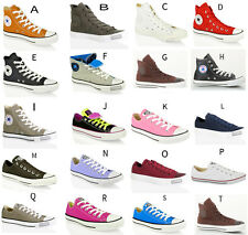 UNISEX CONVERSE ALL STAR CT HI LO TOP CANVAS LEATHER TRAINERS SHOES SIZE UK 3