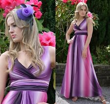 Ladies Summer Party Maxi Dress Pink Purple White Grecian Style By MontyQ UK