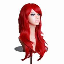 "28 "" Party Halloween Cosplay 80CM Long Big Wavy Hair Heat Resistant Wig"