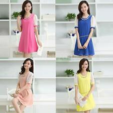 Hot Korean Women Short Sleeve Party Dress Evening Cocktail Casual Mini Dress