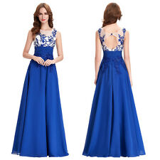 2015 Applique Sexy Vintage Gown Mother Wedding Evening Prom Party Long New Dress
