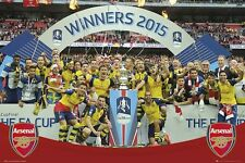 Arsenal Football Club FA Cup Winners 2014/15 AFC Poster 91.5x61cm