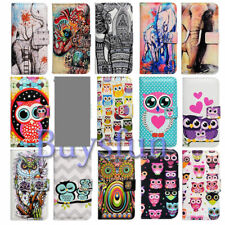 Bcov Colorful Elephant Owl Style Leather Wallet Case Cover For Samsung Galaxy