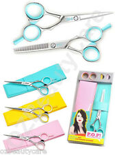 """POP 5""""/5.5"""" Polished Finish Hairdressing/Salon Left Handed Scissors Or Thinners"""