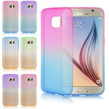 FUNDA FLIP TPU TRANSPARENTE CARCASA CASE COVER PARA Samsung Galaxy Phone COLORES