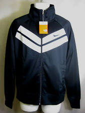 NIKE MENS POLYESTER ZIP UP JACKET BLACK/WHITE -446271 017-