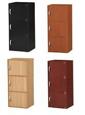 3 Door Storage Cabinet Kitchen Bedroom Living Room Space-Saver Wood Furniture