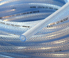 10Ft of High Pressure Braided PVC Water Line Tubing Clear Hose Braid Reinforced