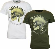 "NEW MENS DIESEL T-SHIRT FEDDO - ""Mohican in Skeleton Form"" Graphic tshirt"