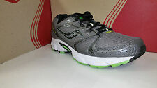 Saucony Men's Grid Cohesion 5 Grey Black Lime Running Shoes Size 7.5-13