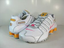 WMNS NIKE SHOX NZ EU Met Silver/Grey-Pink-White -488312 008- RUNNING ATHLETIC
