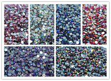 500PCS Luxury Colorful Flat Back Nail Crystal Rhinestones Facets Resin Beads #