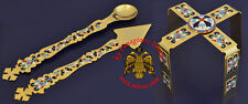 Orthodox Extra Chalice Set - Asterisk Spear Lance Gold Plated with Enamel Motive
