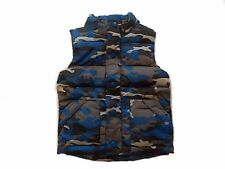 NWT Boy's Gymboree King of Cool blue black camo puffer vest jacket ~ 4 FREE SHIP