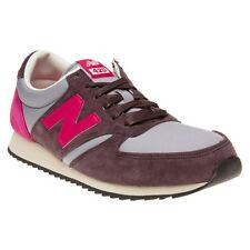 New Mens New Balance Maroon Grey 420 Suede Trainers Retro Lace Up