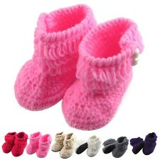 Baby Girls Shoes Handmade Crochet Knit Socks Crib Shoes Baby Infants Shoes New