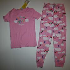 NEW Gymboree Think Happy Thoughts Rainbow Gymmies Pink PJs Size 5 7 Pink 2 piece