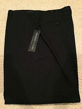 NWT Men's Victorio Cuture Navy Flat Front Dress Pants Slacks BIG SIZES/LENGTHS