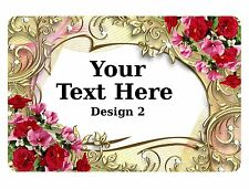 Your Text Metal Aluminium Signs Door Plaques House Vintage Custom Personalise