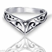 Mens Or Womens Celtic Filigree Ethnic Ring in 925 Solid Sterling Silver