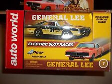 Auto world SILVER SCREEN DUKES OF HAZZARD GENERAL HO Scale Slot Car W/ DECALS