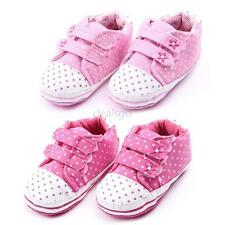 Cute Kid Toddler Girl Pink Polka Dots Shoes Newborn Infant Crib Shoes D17
