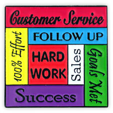 Customer Service Hard Work Recognition Lapel Pin