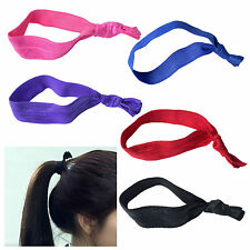 Girl Lady Fashion Knotted Simple Style No Crease Hair Ties 10/30pcs