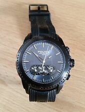 Police Mens Watch Tazer 12076JSU/03 with Black PU strap and Blue Dial
