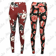 Ladies Women's Crepe Summer Floral Print Skinny Trousers Pant Plus Size 8-22
