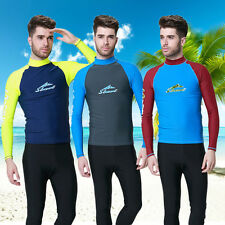 Men's Long Sleeve Rash Guard Skin Shirt Surf Swim Top Swimwear Swim Surf Top