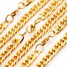 Hot 1/10Pcs Stylish  Golden  Cable Open link Metal Chain Findings DIY Gift 46cm