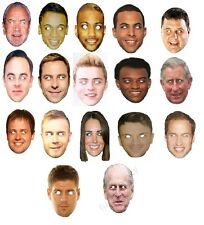 CELEBRITY FACE MASKS (Fancy Dress/ Party/ Funny/Joke)