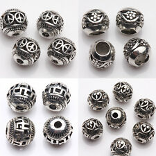 Wholesale 10/20 Pcs Various Pattern Tibetan Silver Hollow Out Spacer Beads DIY