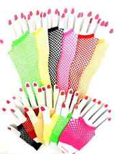 NEW SEXY LADIES 1 PAIR OF SHORT OR LONG FISHNET GLOVES 80 'S RETRO FANCY DRESS