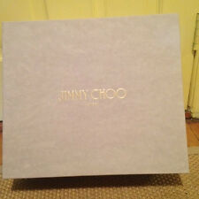Jimmy Choo Grey Paper Shoe Box Prisma Wedges W size 7.5 Med (1 3/4 in. to 2 3/4