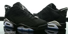 NEW NIKE AIR JORDAN 6 RETRO LOW BLACK SILVER Size 8-14 DB BIN PRE-ORDER DS NEW