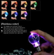 10X Mini Creative Colorful LED Flash Light Lamp Bulb Torch Keychain Key Ring Lot