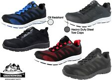 Mens Groundwork Safety Steel Toe Cap Work Factory Laces Trainer Shoe Boot Size
