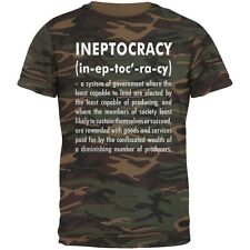 Ineptocracy Definition Camo Adult T-Shirt