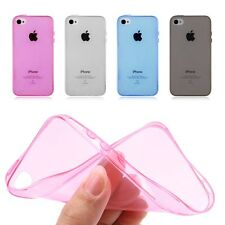 Transparent 0.3mm Ultra Thin Soft TPU Back Case Cover for iPhone 4 4S+Guard