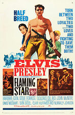 """""""FLAMING STAR """" ELVIS PRESLEY Vintage Movie Poster A1A2A3A4Sizes"""