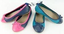 Gap Kids Ballet Flats Shoes Teal/Navy Size 11 or 12 Navy/Pink Girls Size 11